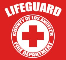 L.A. Co. Lifeguard - red One Piece - Short Sleeve
