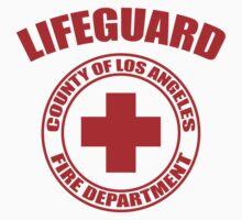L.A. Co. Lifeguard - white Baby Tee
