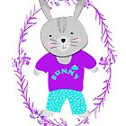 Cute Whimsy Bunny Rabbit  by Artification