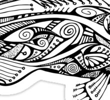 Black & White Zentangle Grouper Sticker