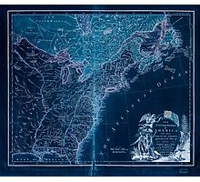 American Revolutionary War Era Maps 1750-1786 948 The United States of America laid down from the best authorities agreeable to the Peace of 1783 Inverted Photographic Print