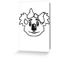 girl sweet cute little koala bear face head girl woman female loop Greeting Card