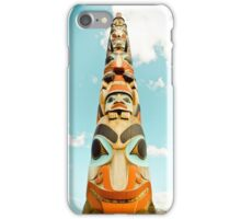 totem pole vancouver iPhone Case/Skin