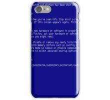 blue screen iPhone Case/Skin