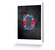 Fun Letter - D Greeting Card