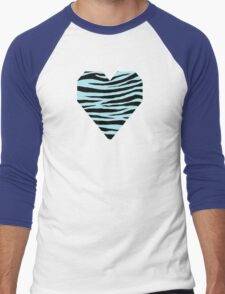 0046 Blizzard Blue or Blue Lagoon Tiger Men's Baseball ¾ T-Shirt