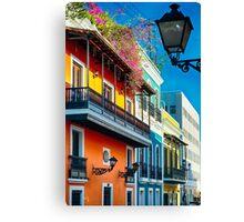 Colors of Old San Juan I Canvas Print