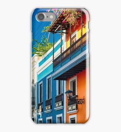 Colors od Old San Juan II iPhone Case/Skin