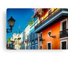 Colors od Old San Juan II Canvas Print