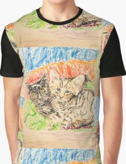Two Kittens Graphic T-Shirt