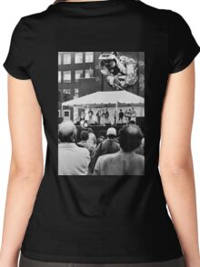 Toronto street scene  Women's Fitted Scoop T-Shirt