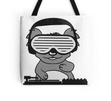 dj party music celebration headphones glasses funky deejay club dancing disco koala mischpult Tote Bag