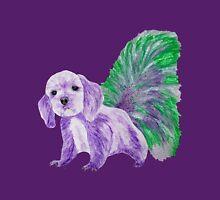 Half cute dog & half squirrel (purple,green) Women's Fitted Scoop T-Shirt