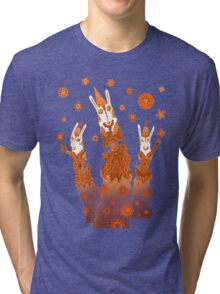 Psychedelic Rabbit Wizards  Tri-blend T-Shirt