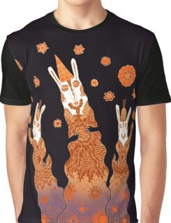 Psychedelic Rabbit Wizards  Graphic T-Shirt