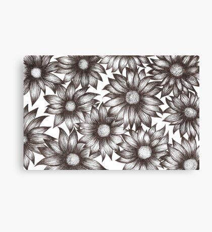 Flower B&W Canvas Print