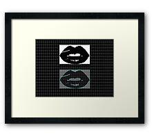 lips graph Framed Print