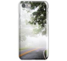 On The Road - foggy day (2014) iPhone Case/Skin
