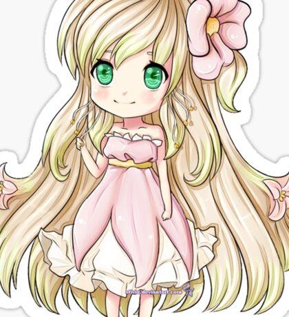 Cute Blonde Anime Chibi Sticker