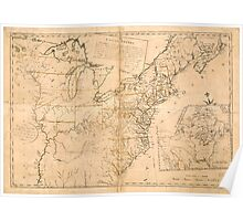 American Revolutionary War Era Maps 1750-1786 944 The United States according to the definitive treaty of peace signed at Paris Sept 3d 1783 Poster
