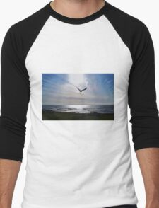 AS THE CROW FLY'S.....Yachats, Ore. At the Yachats Inn Men's Baseball ¾ T-Shirt