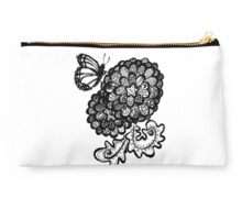 Flowers With Butterfly Studio Pouch