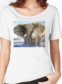 African Elephant Women's Relaxed Fit T-Shirt