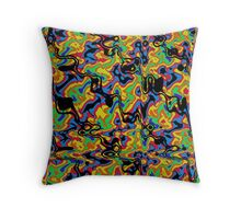 Primary & Secondary Color Design 2L Throw Pillow