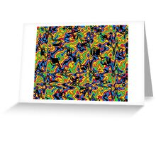 Primary & Secondary Color Design 2L Greeting Card