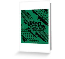 Jeep daily black Greeting Card