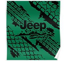 Jeep daily black Poster