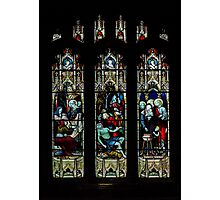 St Mary church-stained glass1  Photographic Print
