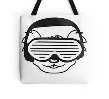 dj party music celebration headphones glasses funky deejay club dancing disco koala head face Tote Bag