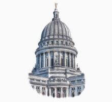 Wisconsin State Capitol Building Kids Tee