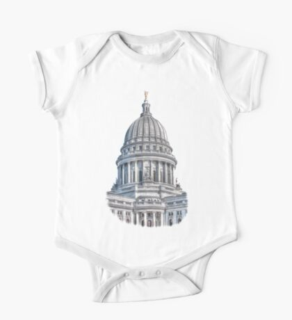 Wisconsin State Capitol Building One Piece - Short Sleeve