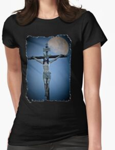 Crucifixion Darkness Womens Fitted T-Shirt