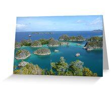 Penemu Island Lagoon Greeting Card