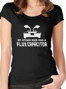 My Other Ride has a Flux Capacitor Women's Fitted Scoop T-Shirt