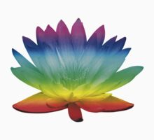 Rainbow Water Lily - beautiful lily for stickers, tees and hoodies Baby Tee