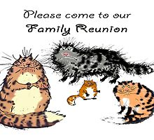 Family reunion invitation, cat family. by Mary Taylor