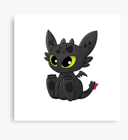 How To Train Your Dragon, Toothless Canvas Print