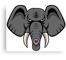 Elephant Face Canvas Print