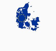 European Union Flag Map of Denmark  Unisex T-Shirt