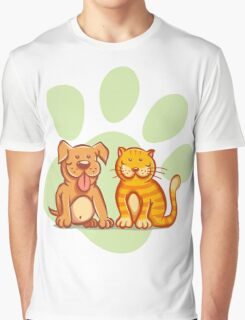 Cat and dog Graphic T-Shirt