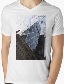 Hearst Tower Through the Bare Branches - Midtown Manhattan, New York City, USA Mens V-Neck T-Shirt