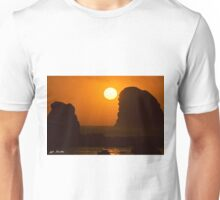 Sunset Over the Pacific Ocean with Rock Stacks Unisex T-Shirt