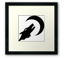 Wolf and Moon Framed Print