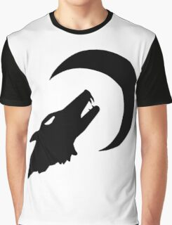 Wolf and Moon Graphic T-Shirt