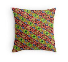 Primary & Secondary Color Design 2R Throw Pillow