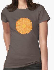 Orange Marigold Womens Fitted T-Shirt